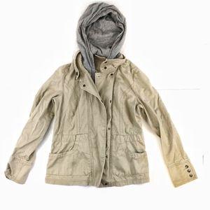 DKNY cargo hoodie utility jacket